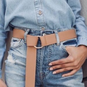 B-low the Belt tan round wrap belt